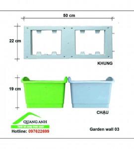 Khung chậu trồng rau trên tường Qa03 -04