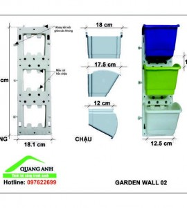 Khung chậu trồng cây trên tường QA02