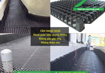 Hình ảnh công trình sử dụng tấm thoát nước Quang Anh