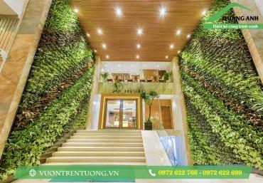 Vườn thẳng đứng trong các công ty, nhà hàng, khách sạn