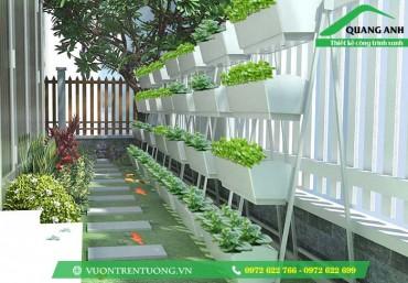 Mô hình trồng rau sạch bằng khay chậu ghép thông minh