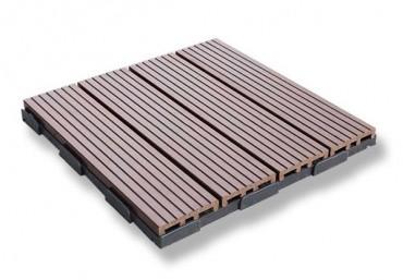 Vỉ gỗ nhựa lót sàn ban công, nhà tắm hay các công trình công cộng