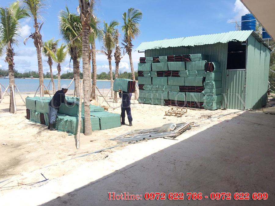 Một số hình ảnh công trình sử dụng tấm thoát nước Quang Anh