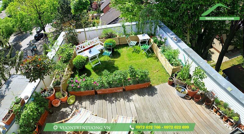 Khung cảnh tuyệt vời giúp bạn thư giãn mà vườn trên sân thượng mang lại